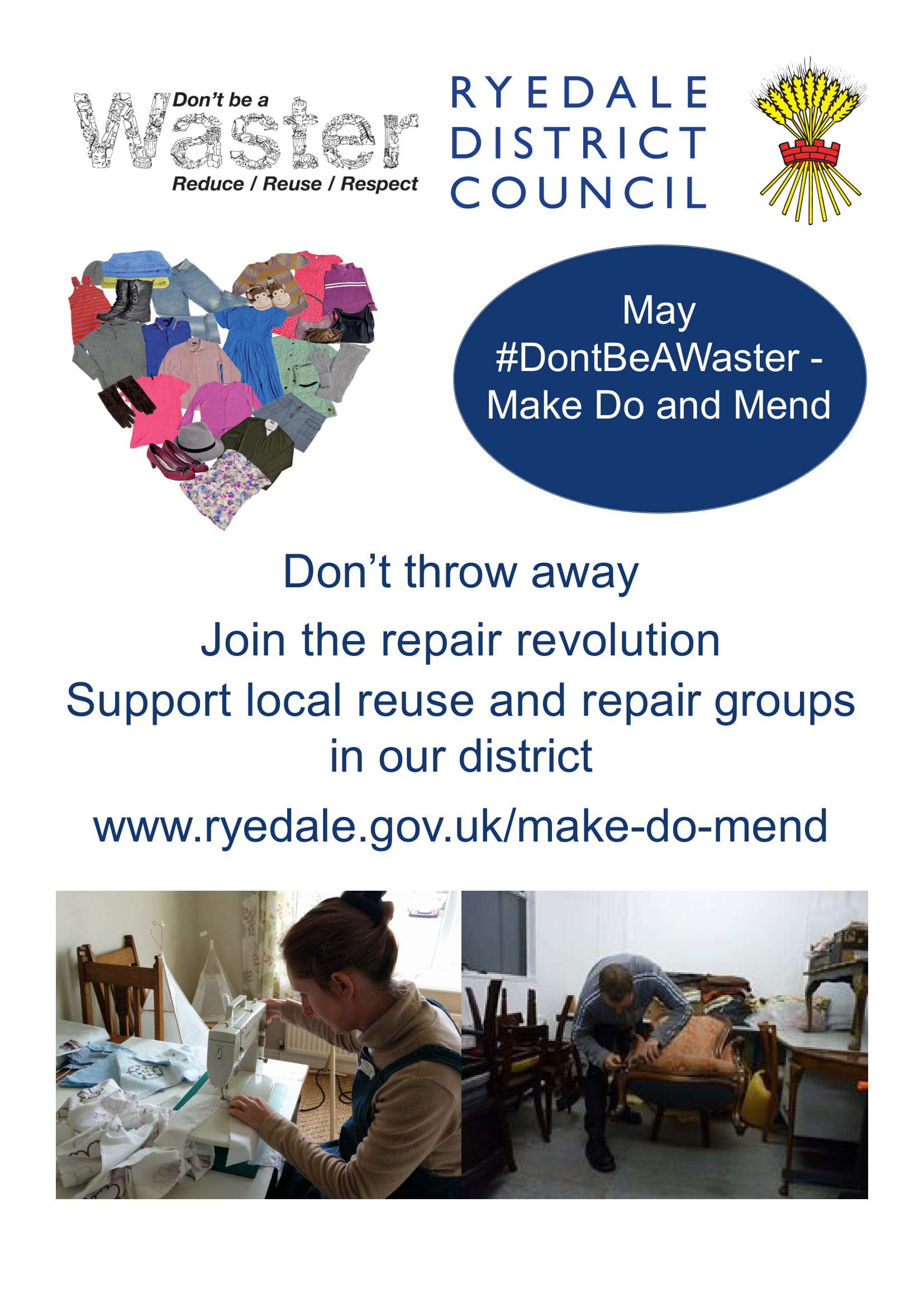 RyedaleDC-DontBeAWaster-May-Make-Do-Mend